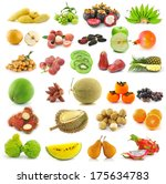 fruit isolated on white... | Shutterstock . vector #175634783