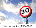 thirty mile per hour street... | Shutterstock . vector #175660013