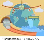 flat design icons set of... | Shutterstock .eps vector #175670777