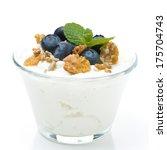 fresh yogurt  with muesli and... | Shutterstock . vector #175704743