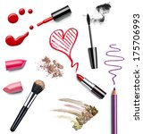 collection of various make up... | Shutterstock . vector #175706993