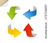 colorful abstract arrows set  ... | Shutterstock . vector #175733057