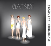 gatsby girls | Shutterstock .eps vector #175739063