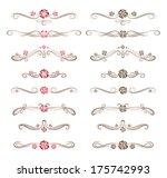 set of decorative floral... | Shutterstock .eps vector #175742993