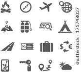 travel and tourism icon set... | Shutterstock .eps vector #175748027