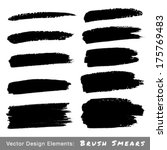 set of hand drawn grunge brush... | Shutterstock .eps vector #175769483