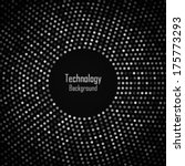 abstract circular dark gray... | Shutterstock .eps vector #175773293