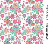seamless vector  floral pattern | Shutterstock .eps vector #175790513