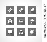 web site vector icons set... | Shutterstock .eps vector #175813817