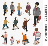 Set Of People Isometric Vector