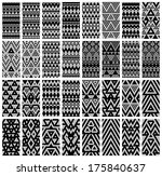 tribal monochrome lace patterns.... | Shutterstock .eps vector #175840637