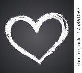 chalk heart  vector element for ... | Shutterstock .eps vector #175861067