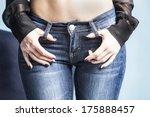 body in jeans  studio shot   Shutterstock . vector #175888457