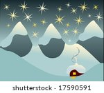 winter landscape with mountains ... | Shutterstock . vector #17590591