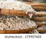 Baskets With Silkworm Cocoons...