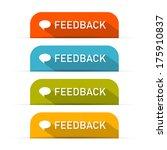 vector feedback icons set...   Shutterstock .eps vector #175910837