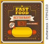 retro fast food poster. vector... | Shutterstock .eps vector #175912313
