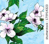 decorative floral background... | Shutterstock .eps vector #175914323