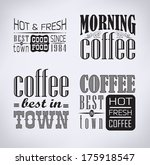 set of coffee   cafe labels ... | Shutterstock .eps vector #175918547