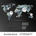 polygonal world map and... | Shutterstock .eps vector #175920677