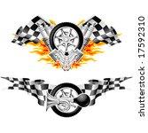 sports race emblems   second set | Shutterstock .eps vector #17592310