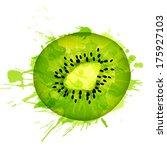 kiwi fruit slice made of... | Shutterstock .eps vector #175927103