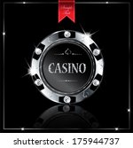 metallic casino chip | Shutterstock .eps vector #175944737