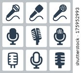 vector isolated microphone... | Shutterstock .eps vector #175952993