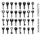 set of vector keys | Shutterstock .eps vector #176001773