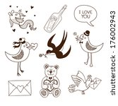 collection of sketch vector... | Shutterstock .eps vector #176002943