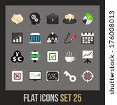 flat icons set 25   business...