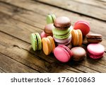 a lot of french colorful... | Shutterstock . vector #176010863