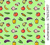 seamless pattern with fruit and ...