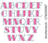 elegant vector retro font | Shutterstock .eps vector #176030087