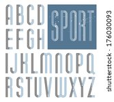 retro font. triple line stroke | Shutterstock .eps vector #176030093