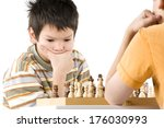 a boy in deep thought during a... | Shutterstock . vector #176030993