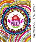 vector label design typographic ... | Shutterstock .eps vector #176042507