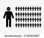 black stick man emotions... | Shutterstock .eps vector #176043587