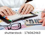 business accounting  | Shutterstock . vector #176062463