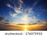 Beautiful Landscape With Sunse...