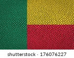 benin flag painted on leather... | Shutterstock . vector #176076227