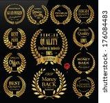 premium quality golden laurel... | Shutterstock .eps vector #176084483