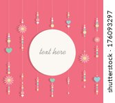 card  text frame sweet pink... | Shutterstock .eps vector #176093297