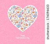 seamless heart appetizing tea... | Shutterstock .eps vector #176096633