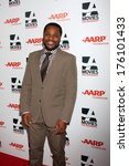 "Small photo of LOS ANGELES - FEB 10: Malcolm-Jamal Warner at the AARP ""Movies for Grownups"" Awards at Beverly Wilshire Hotel on February 10, 2014 in Los Angeles, CA"