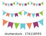 vintage garland | Shutterstock . vector #176118593