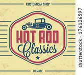 Retro Hot Rod Poster / Vintage Design / Old Classics