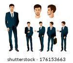 businessman in various poses | Shutterstock .eps vector #176153663