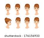 business woman character... | Shutterstock .eps vector #176156933