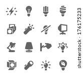 simple set of light source... | Shutterstock .eps vector #176175233